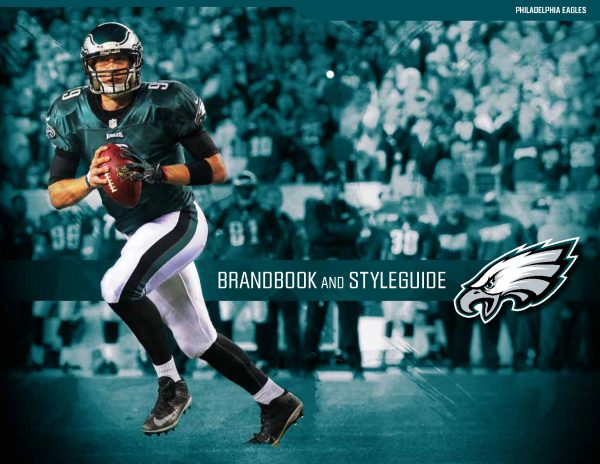 Brandbook design for the Philadelphia Eagles football team.…