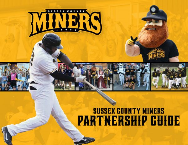 Sussex County Miners Partnership Guide designed to help sales team sell sponsorships.